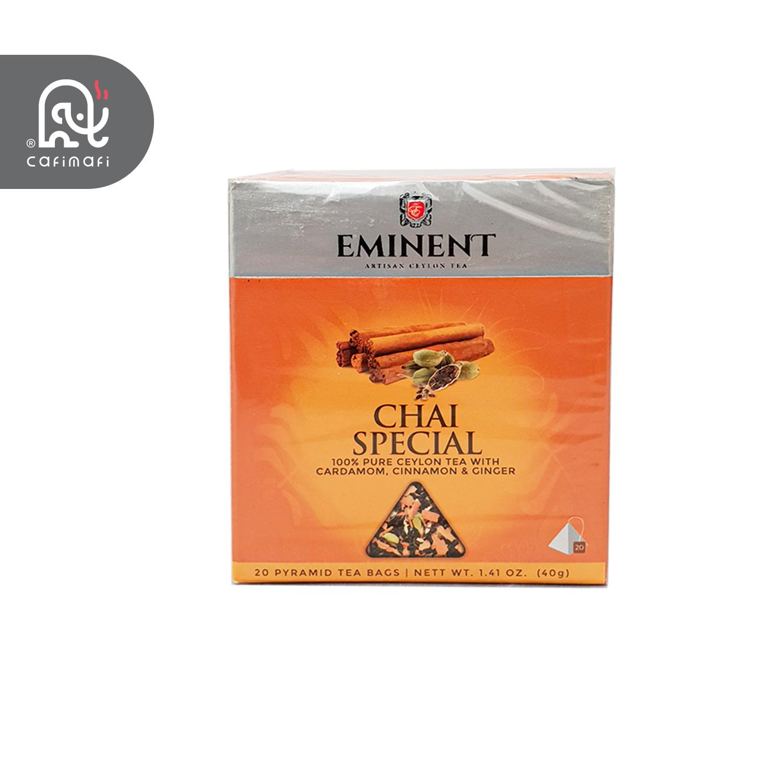 چای کیسه ای ویژه امیننت با طعم دارچین-هل-زنجبیل