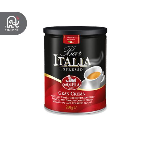 قهوه ایتالیا  قرمز مدل گرن کرما  ساکوئلا 250 گرمی