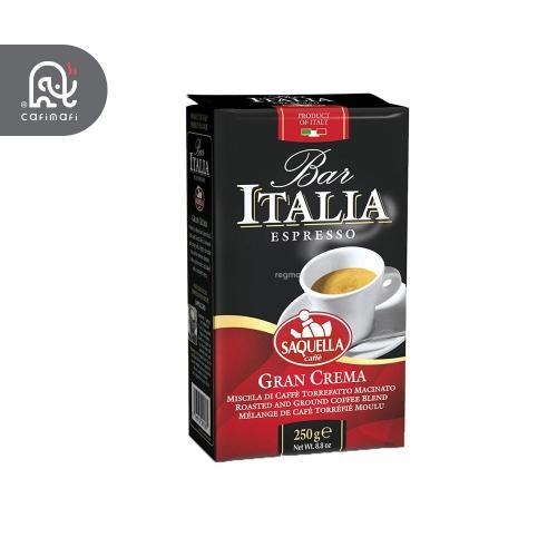 قهوه ایتالیا  قرمز مدل گرن کرما  ساکوئلا 250 گرمی .