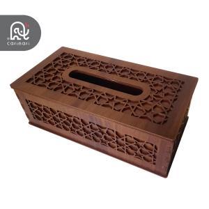 جا دستمال کاغذی چوبی طرح سنتی