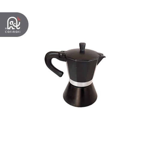 قهوه جوش رو گازی موکاپات  مدل 3 کاپ مشکی