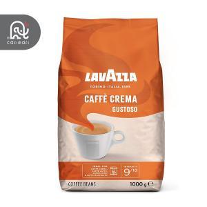 دانه قهوه لاوازا گوستوسو مدل کافه کرما 1 کیلویی