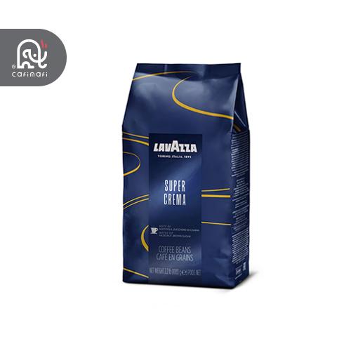دانه قهوه لاوازا سوپر کرما Super Crema یک کیلویی